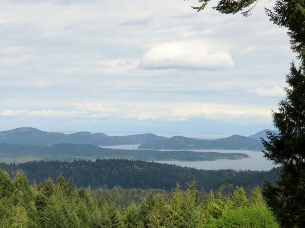 Gulf Island views from Salt Spring Island