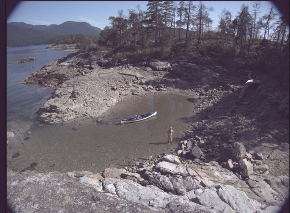Canoe in a bay, Desolation sound