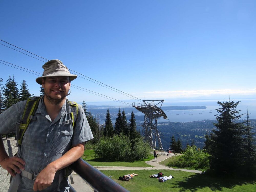 JR and Grouse Mountain view