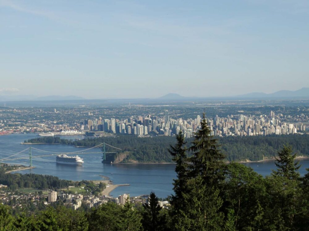 View of Vancouver from on way to Cypress