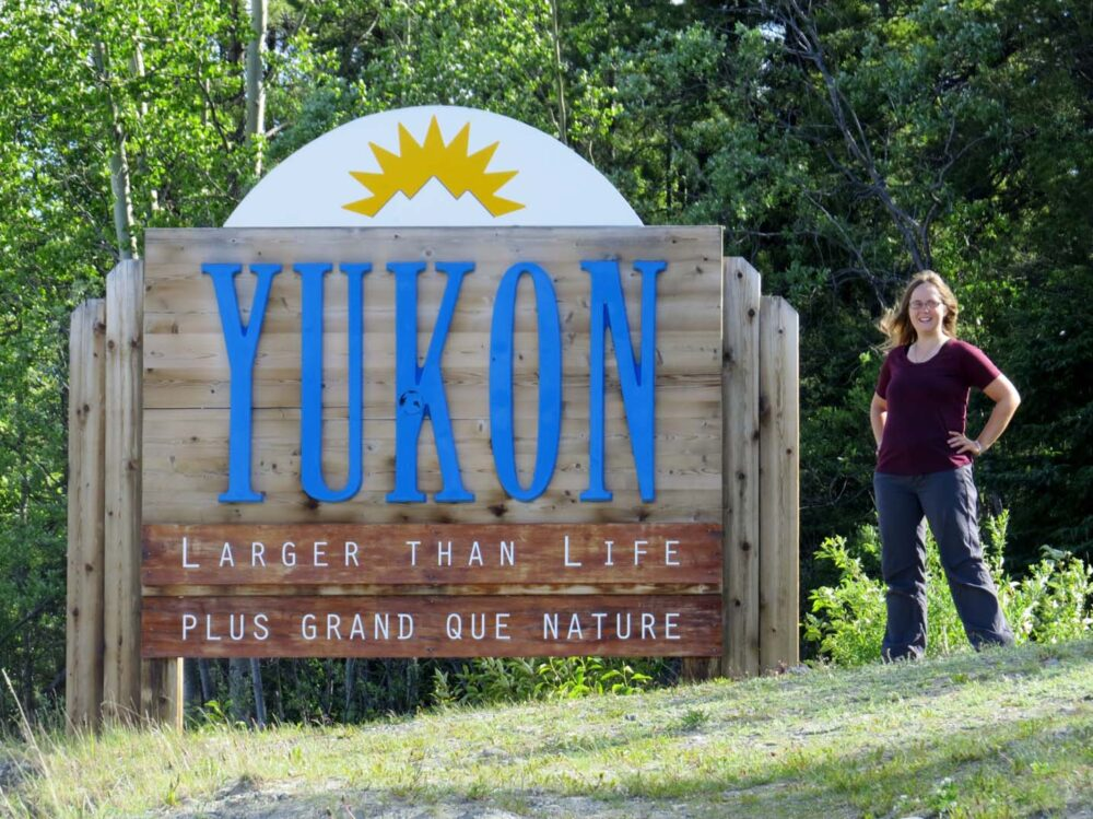 Welcome to Yukon sign Gemma