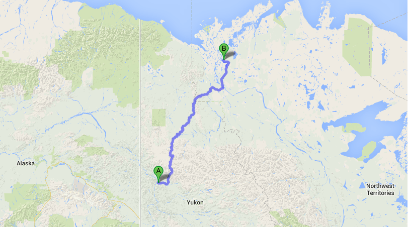 Map of the Dempster Highway