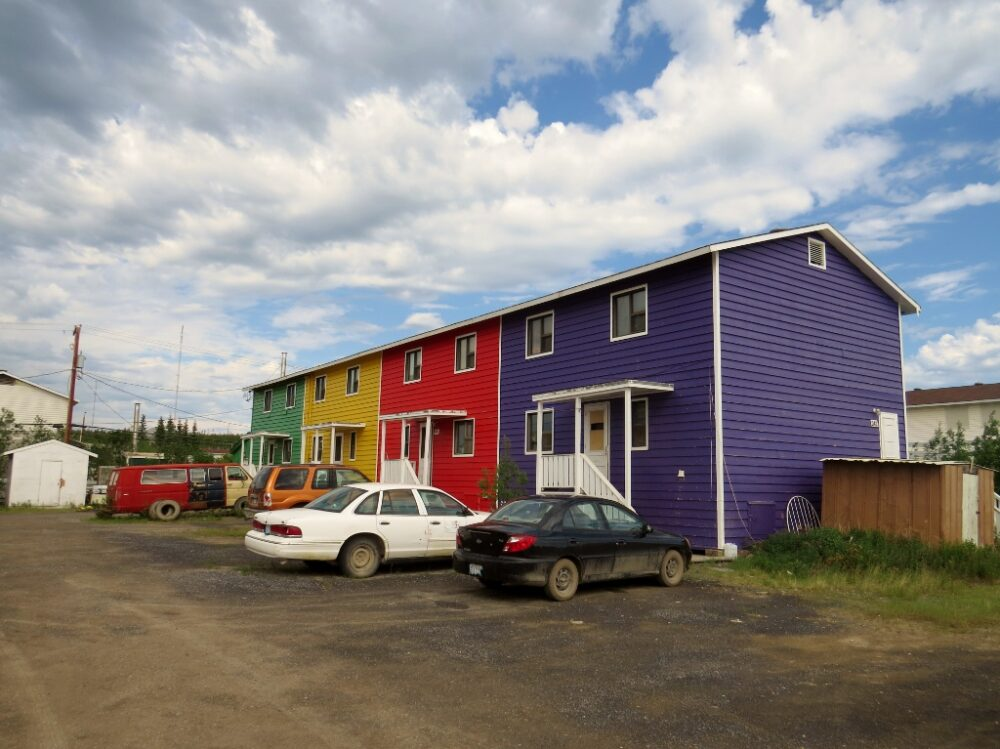 Colourful houses in Inuvik, Canada