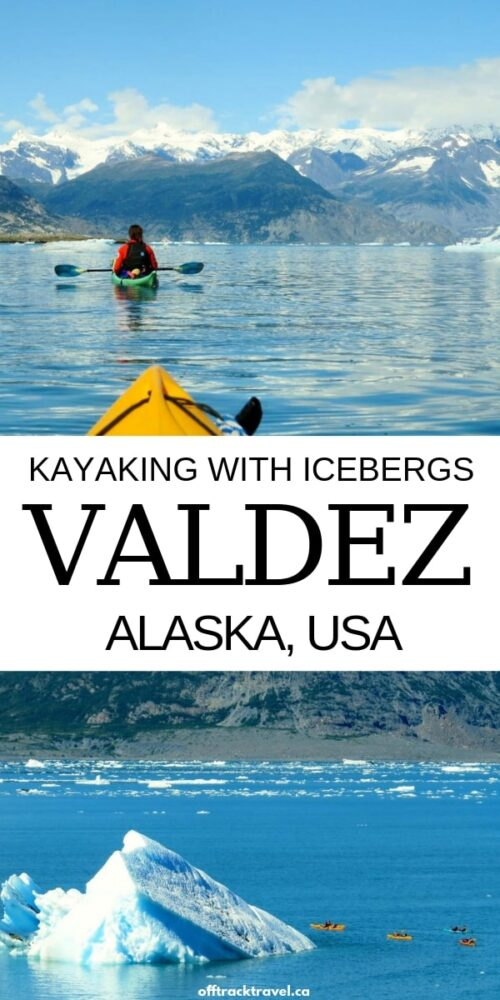 Kayaking in Columbia Bay, Alaska, is an unforgettable experience. It offers the chance of floating past huge icebergs, with a backdrop of a glacier and incredible snow capped mountains. Click here to discover this amazing one day tour in Valdez, Alaska! offtracktravel.ca