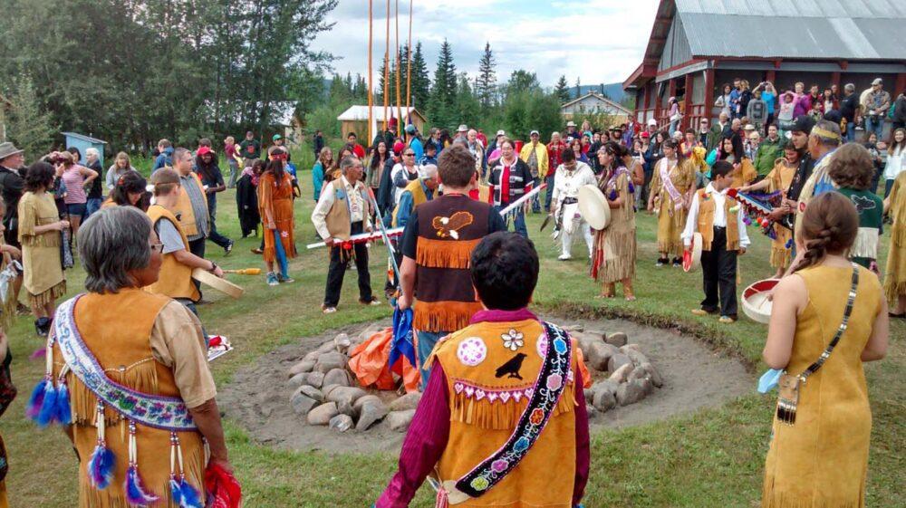 Moosehide opening ceremony