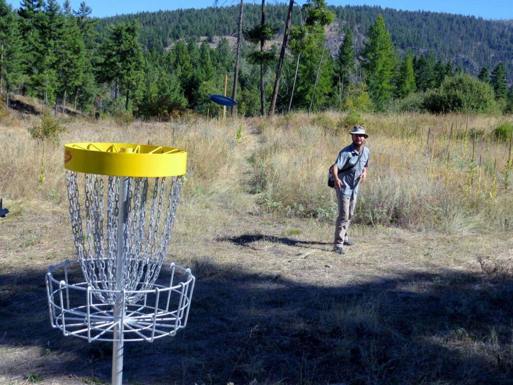 Disc Golf at Myra Canyon