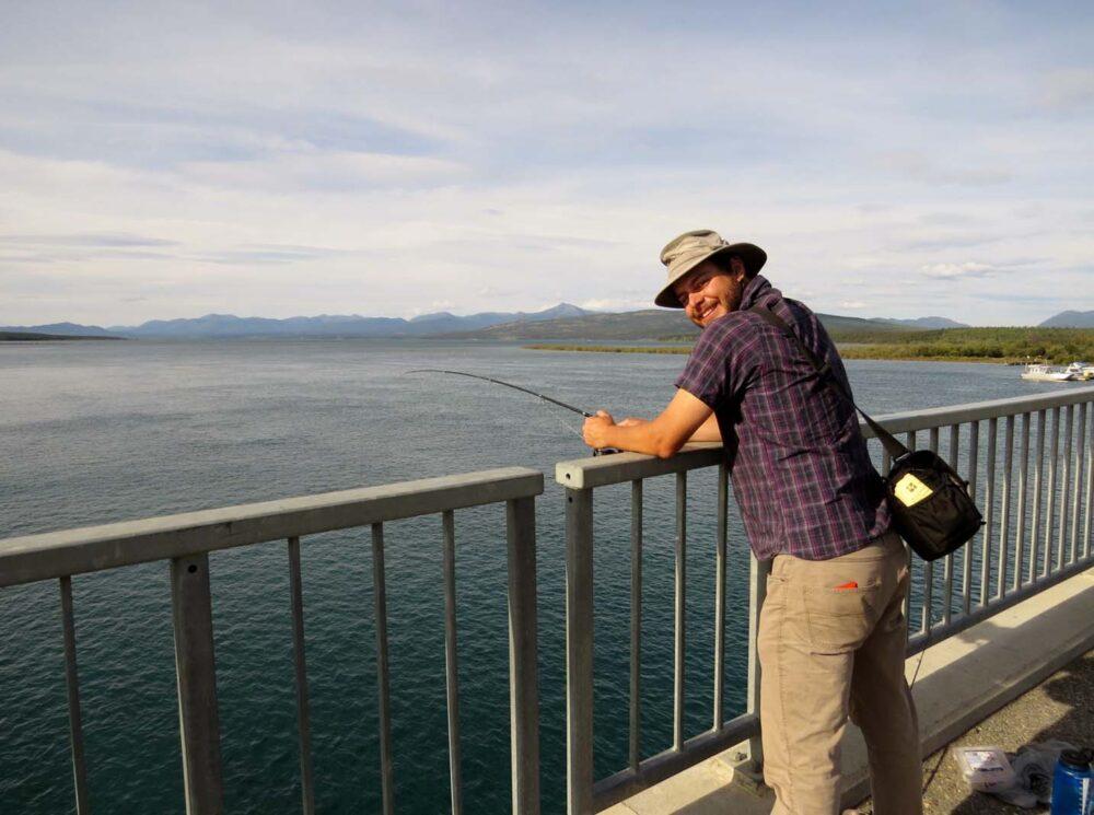 Fishing on Tagish Lake