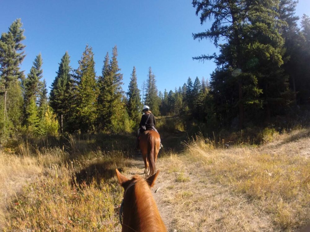 Gemma horse back riding