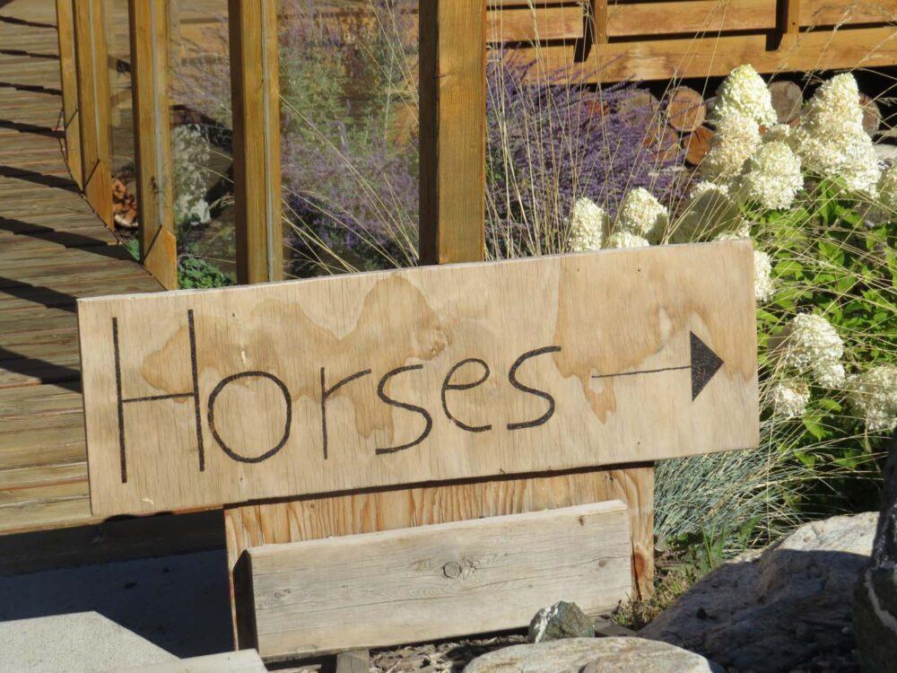 Kelowna Stables horses sign