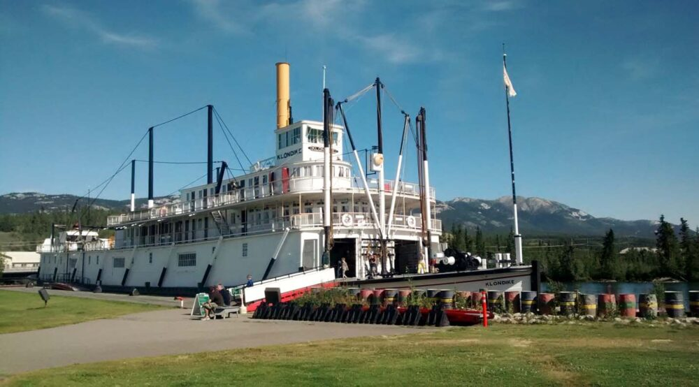 S.S. Klondike sternwheeler dry docked in Whitehorse, Yukon