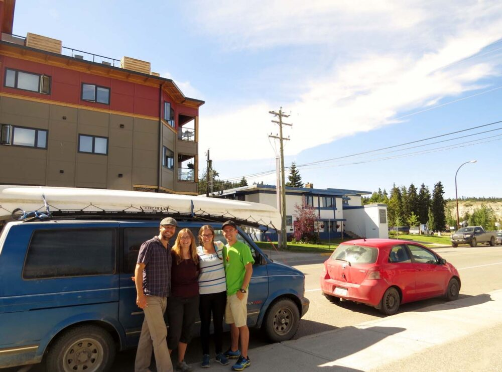 Meeting with friends in Whitehorse