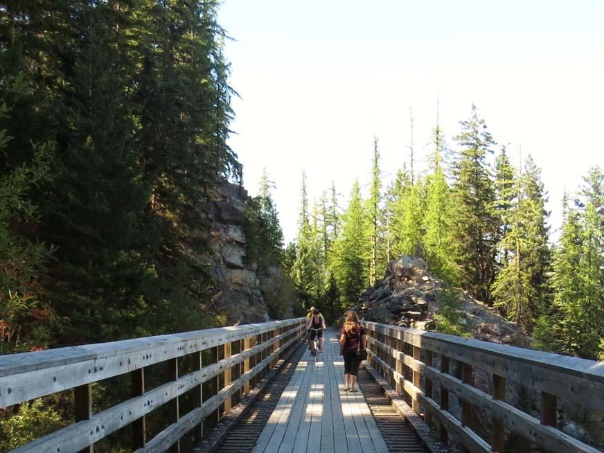 Myra Canyon trestle walking across