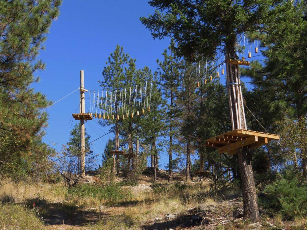 Ropes course Myra Canyon Adventure Park
