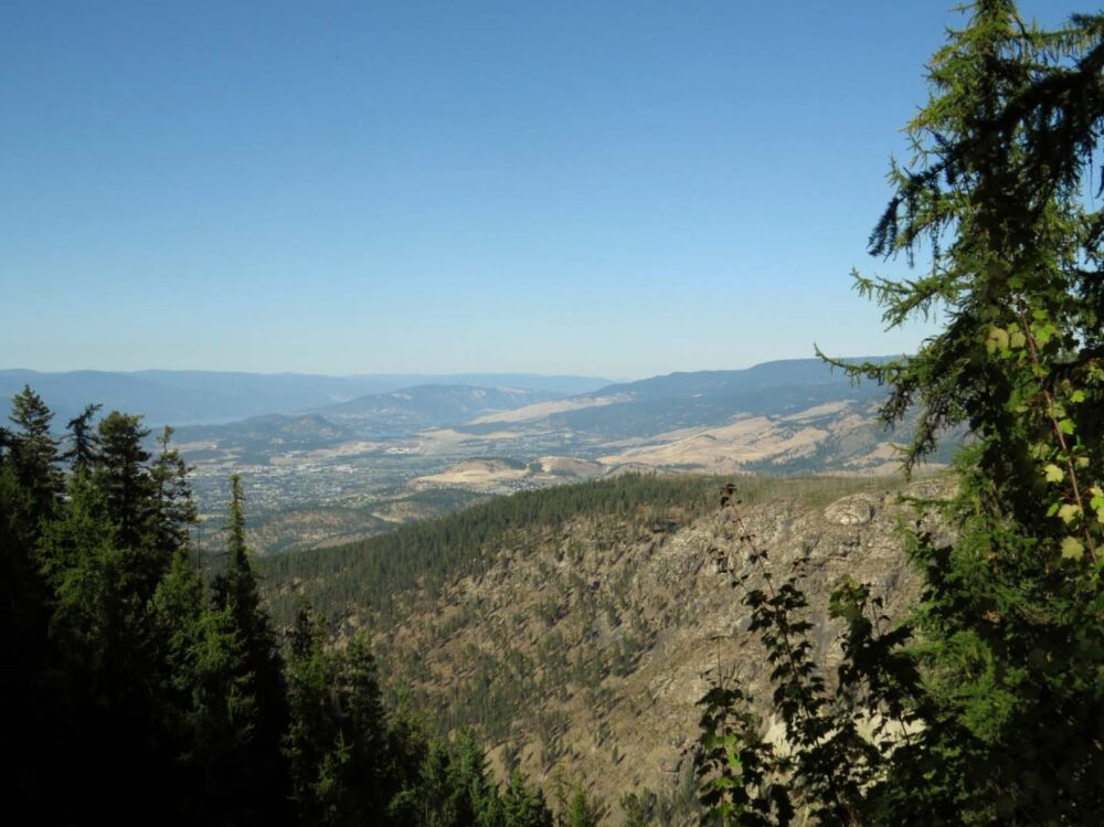View from Myra Canyon trestles