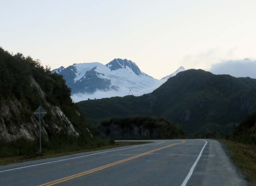 Driving from Valdez Alaska