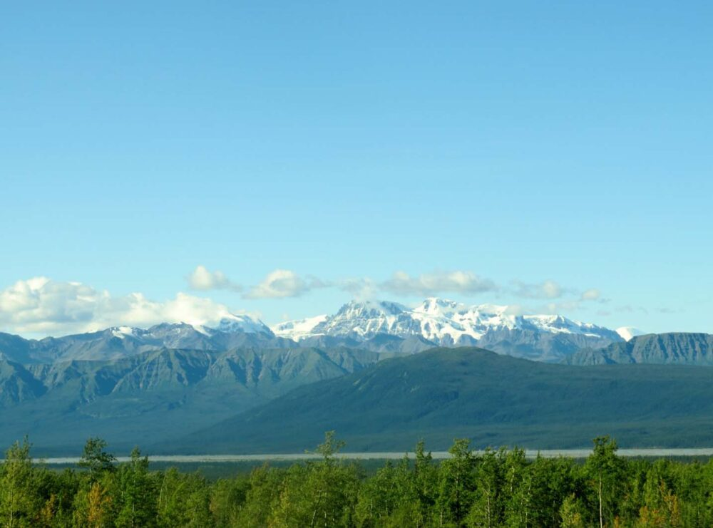 Incredible mountain views on the Alaska Highway