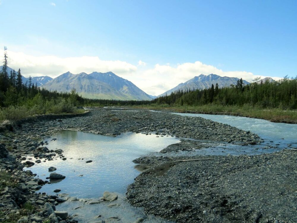 Mountain views in Kluane National Park, Yukon, Canada