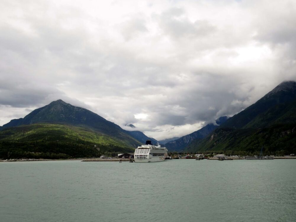 On ferry leaving Skagway Alaska