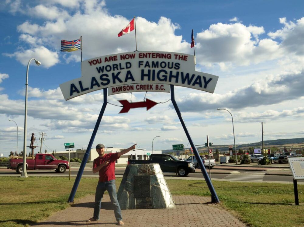 Driving the Alaska Highway - The starting line in Dawson Creek, BC
