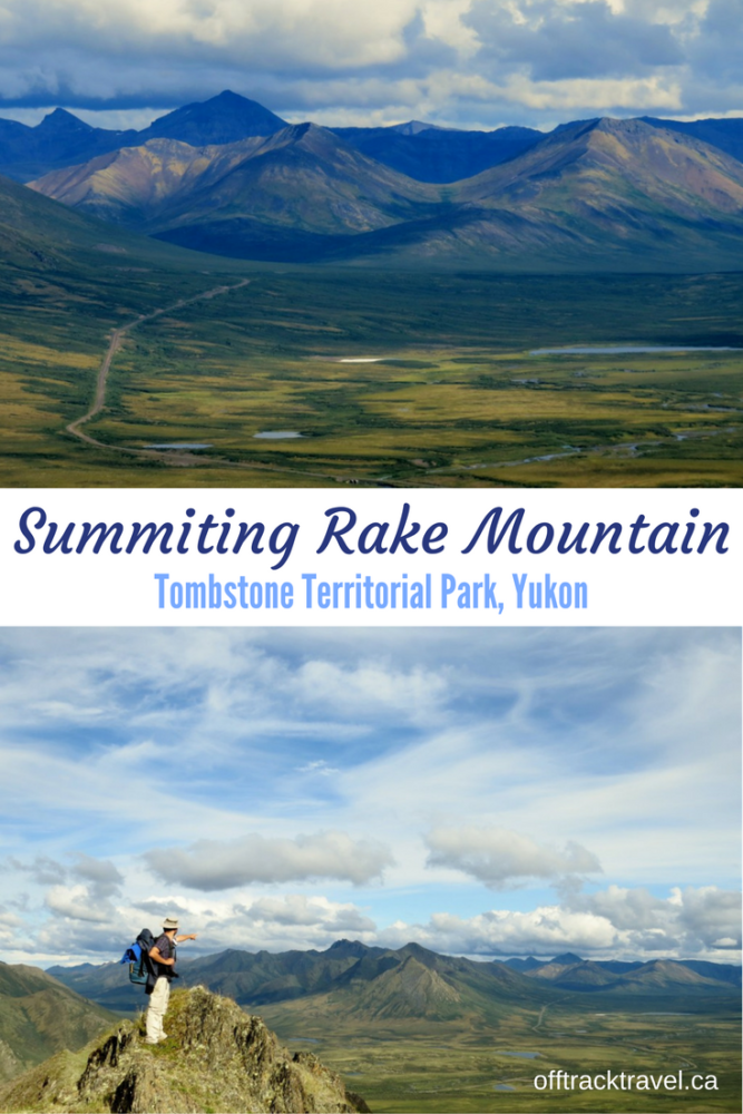 The best one day hike in Tombstone Territorial Park in Yukon? Maybe! We stayed overnight at Rake Mountain to fully absorb the wide reaching views of the tundra and surrounding mountains. An epic trail not to be missed when visiting Yukon! - offtracktravel.ca
