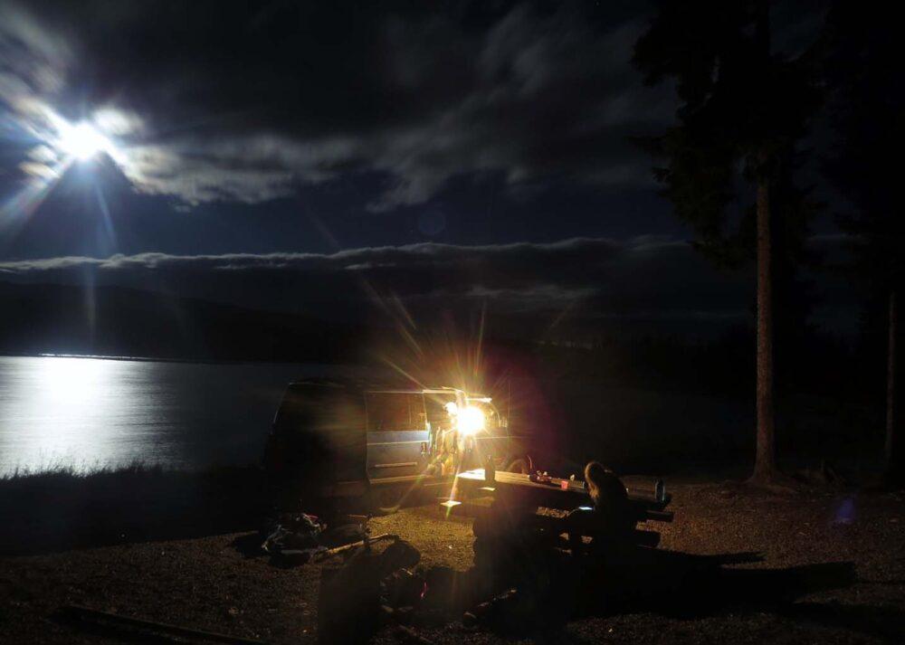 Camping by James Lake night photo
