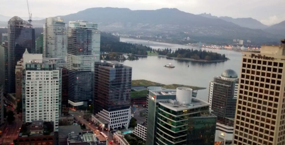 Downtown view from Vancouver Tower