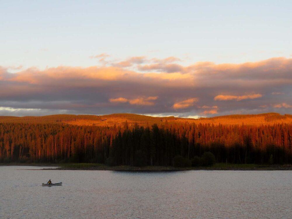 James Lake near Kelowna camping canoeing