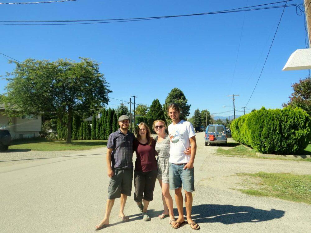 Meeting with friends Kelowna Yukon River