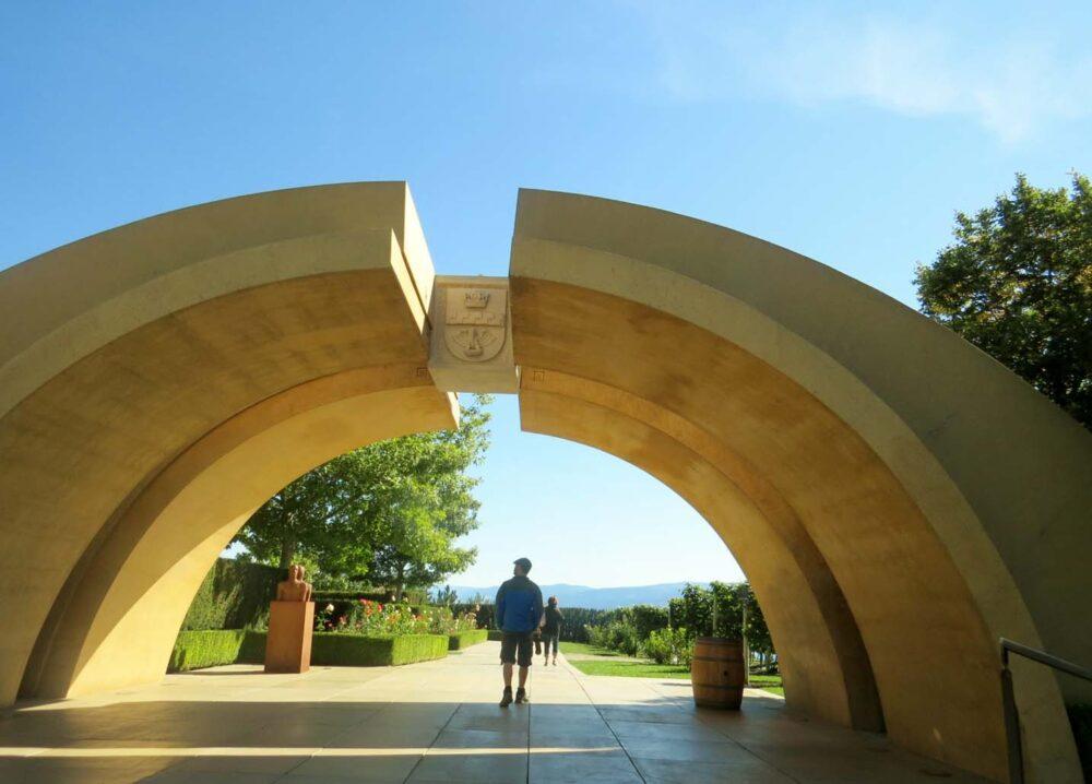 Mission Hill winery arch Kelowna Okanagan
