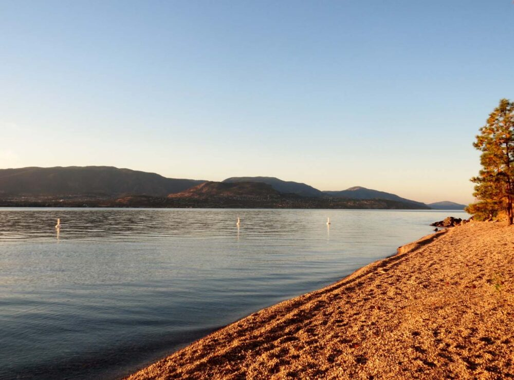 Okanagan Lake Kelowna golden hour
