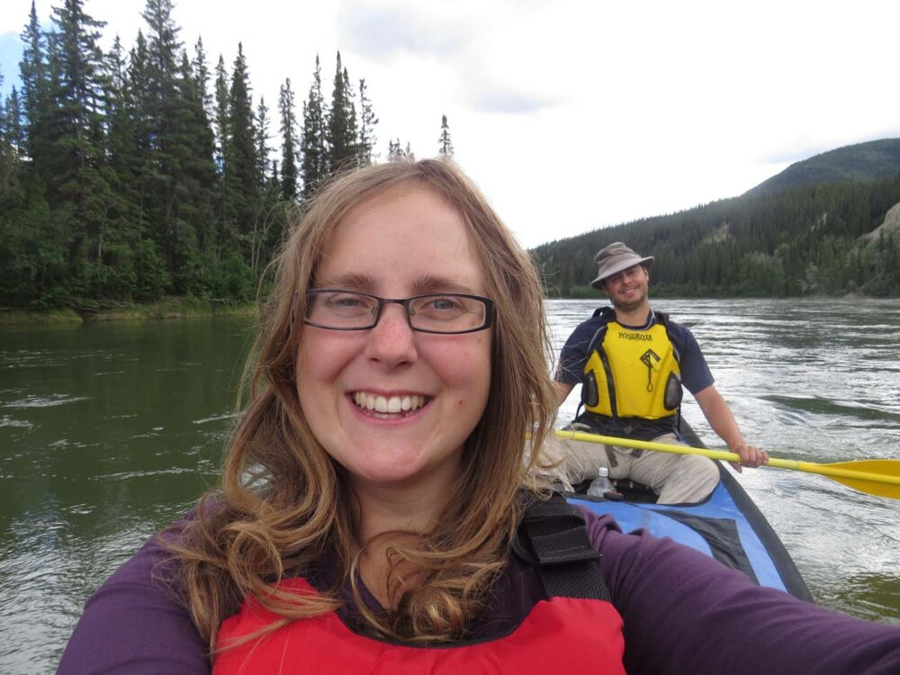 Gemma and JR selfie on the Yukon River