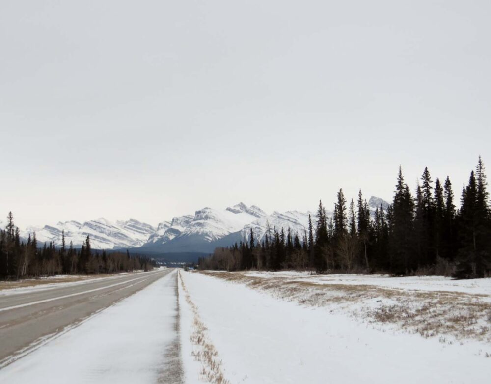 Aproaching the rockies highway 11 alberta