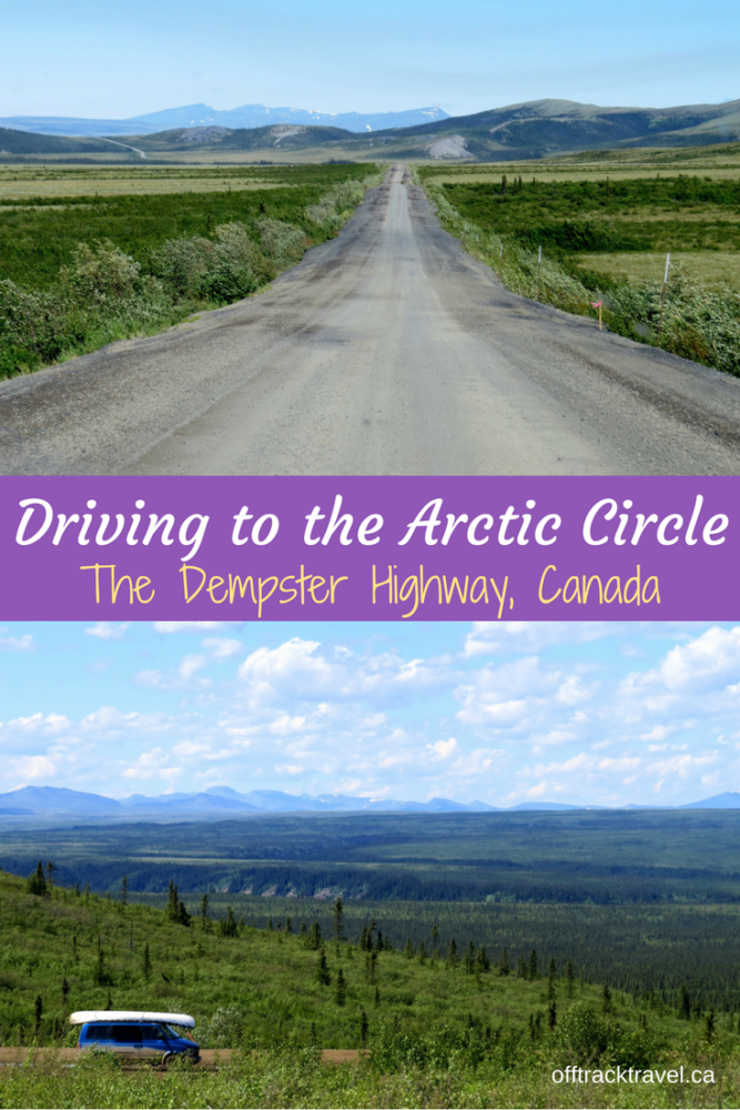 Driving The Dempster Highway To The Arctic Circle And