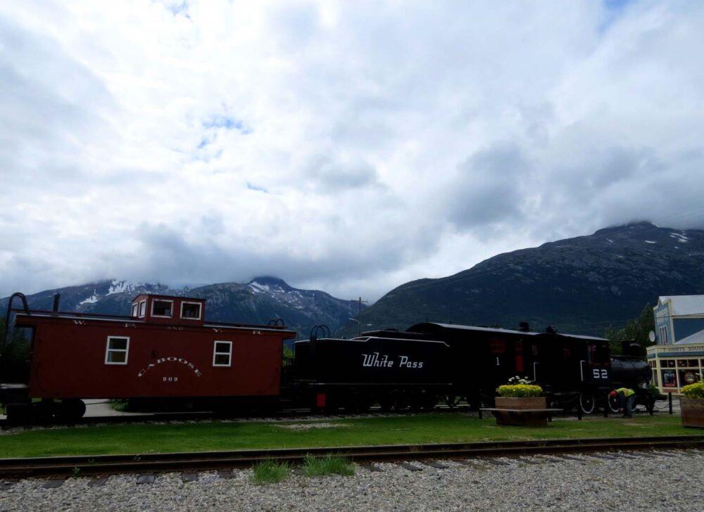White Pass train Skagway Alaska Yukon