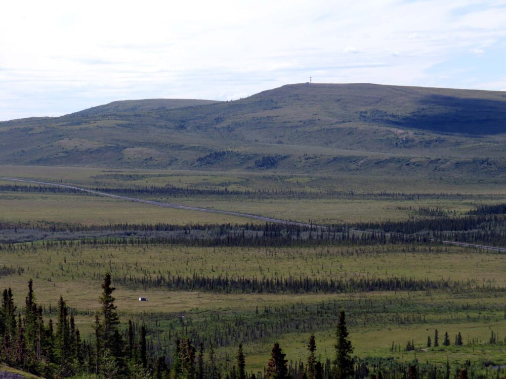 views of dempster highway yukon