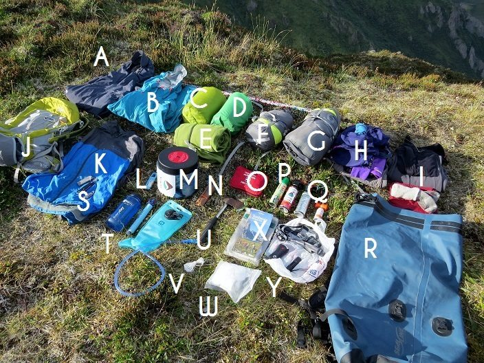 Backpacking gear 2 Tombstone Yukon with letters finish