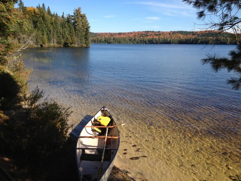 Celine and Gerry canoe photo