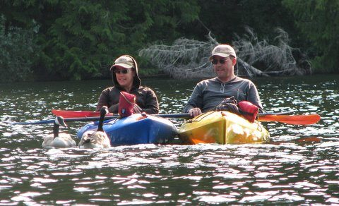 Celine and Gerry crossing canada by canoe