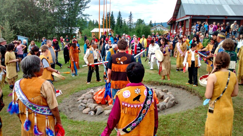 First Nation Moosehide celebrations in Dawson City