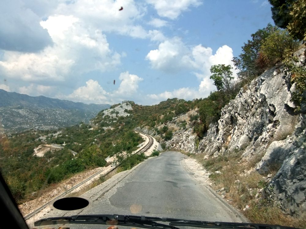 road down from ostrog monastery
