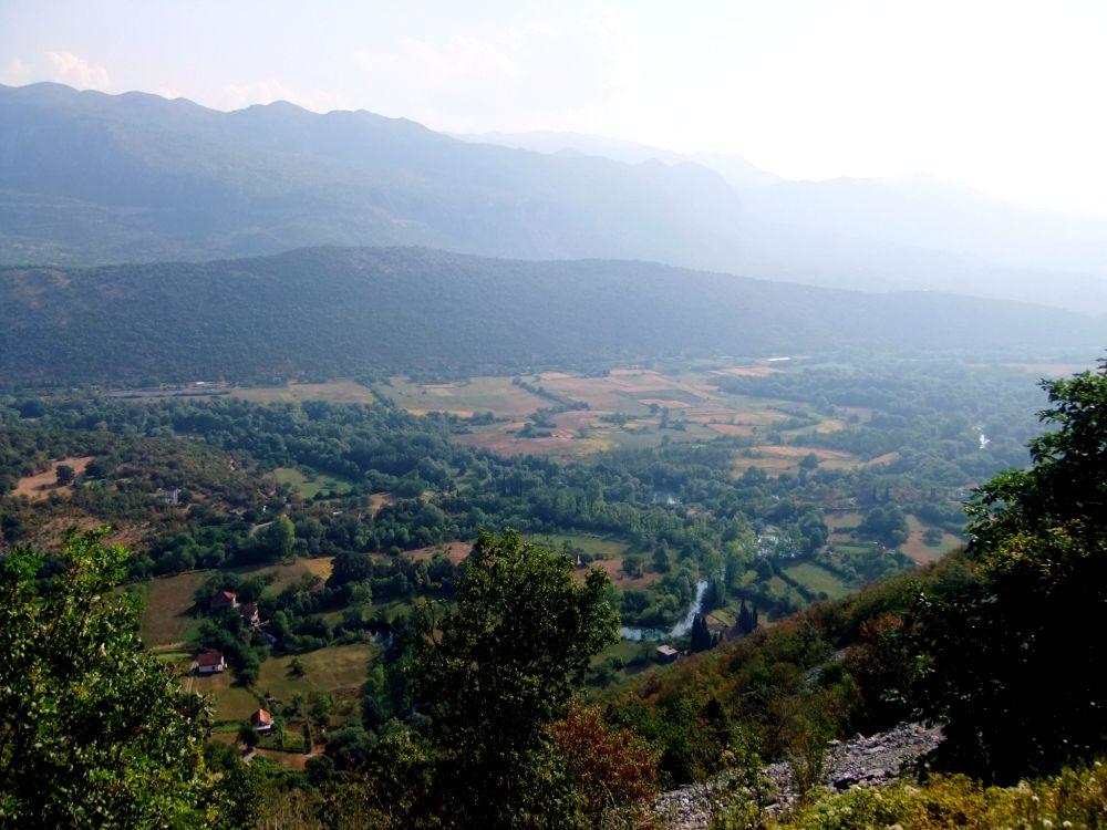 view from ostrog monastery montenegro