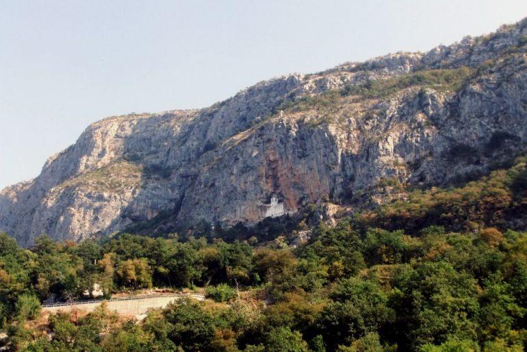 view of upper monastery ostrog montenegro