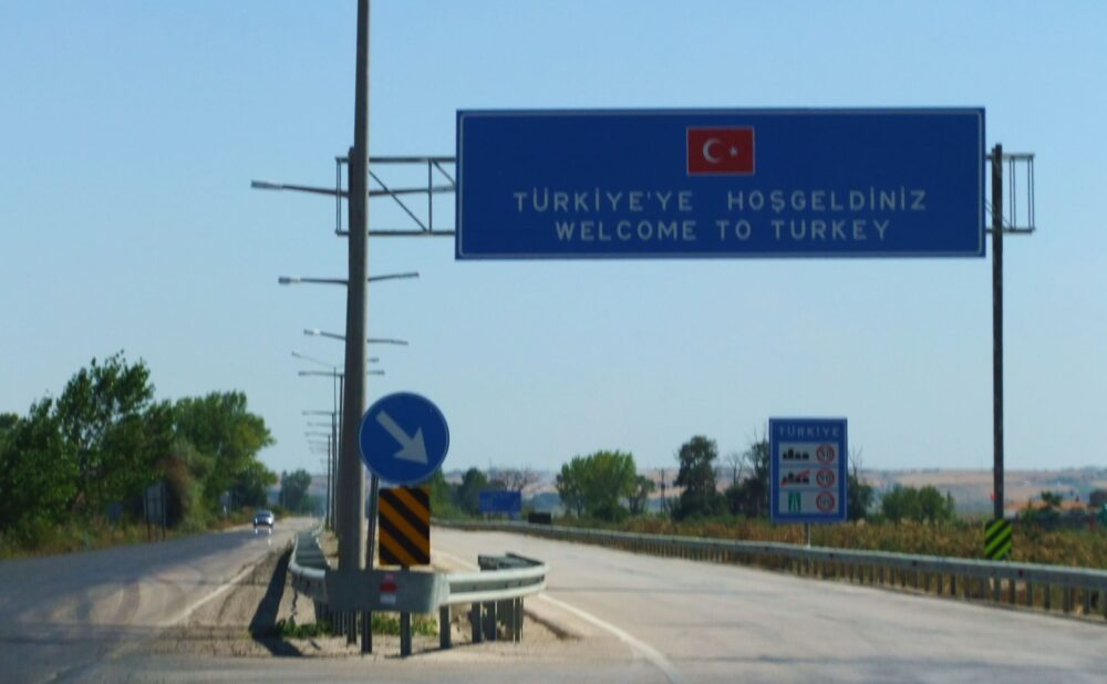 Turkish border on our Europe road trip