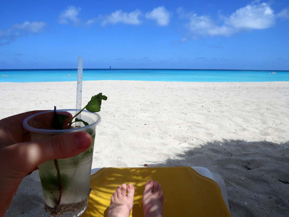 Cuba beach view mojito varadero
