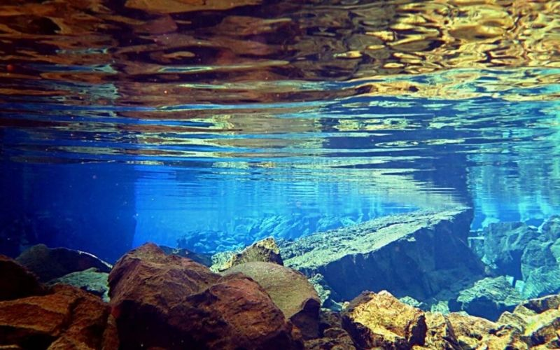 Snorkelling Between Continental Plates in Silfra, Iceland