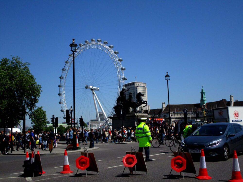 Policemen near the London Eye