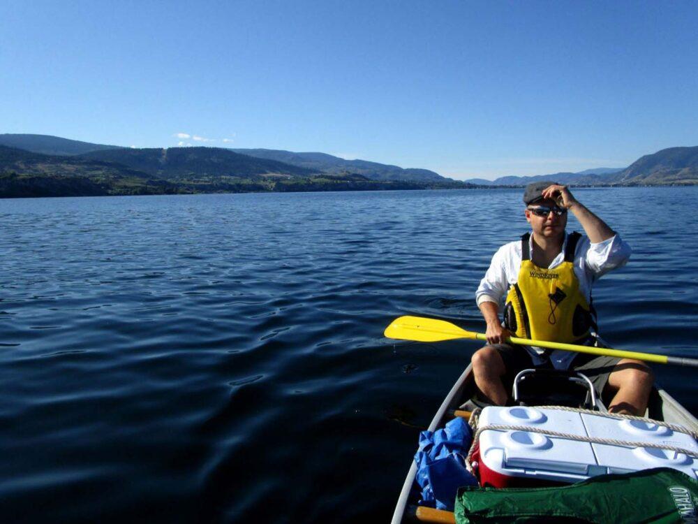 okanagan lake canoe trip july