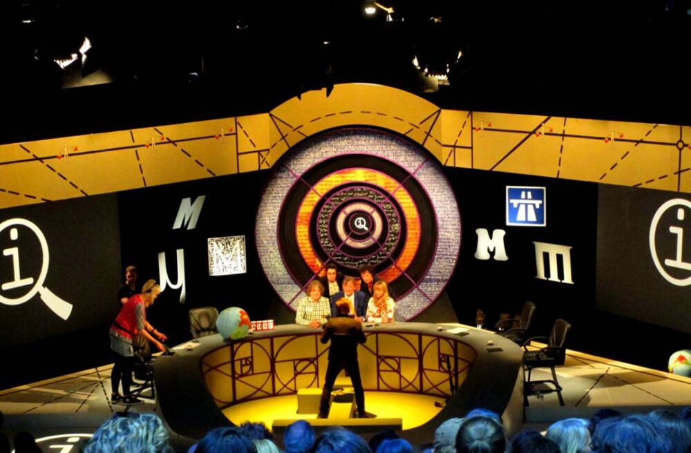 Watching QI television show being filmed in London