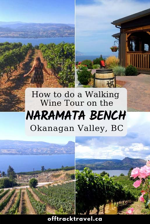 With over 40 wineries along one 15km stretch of road, the best way to wine tour on the Naramata Bench in British Columbia, Canada, is to walk! Here's how we did our own walking wine tour of the beautiful Naramata Bench wine region. offtracktravel.ca