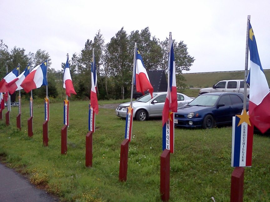 acadian flags and last names